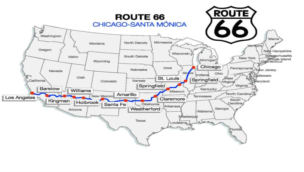 mapa ruta 66