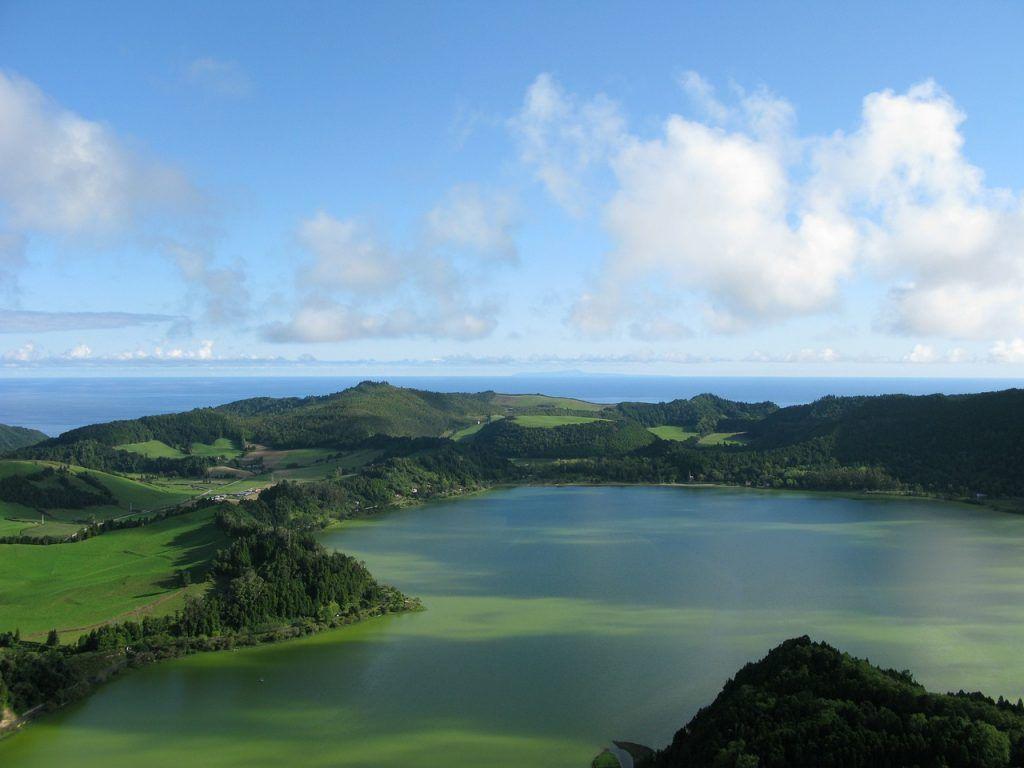 Paisajes en islas Azores