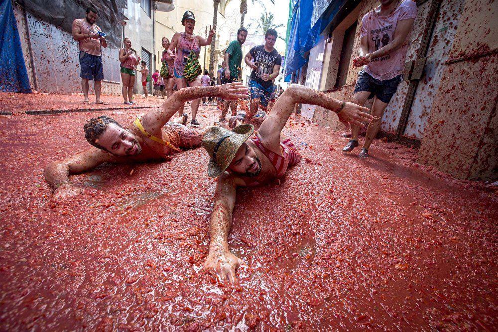 la fiesta del tomate