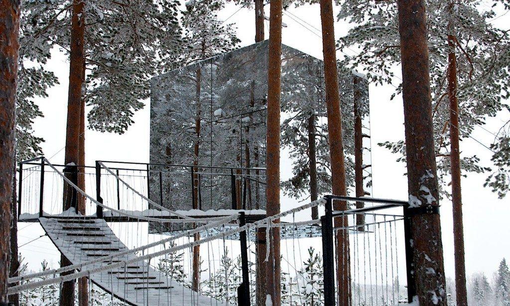 la mejor cabaña en un árbol de suecia