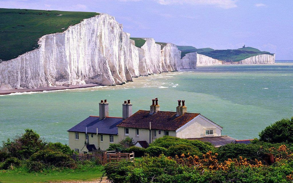 Acantilados costeros de Dover (Reino Unido)