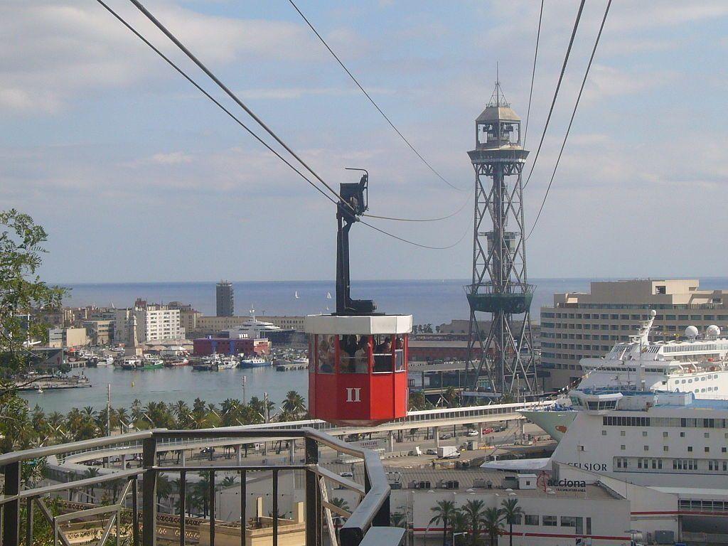 teleferio en Barcelona