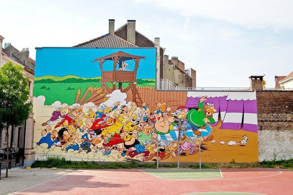 arte callejero en bruselas