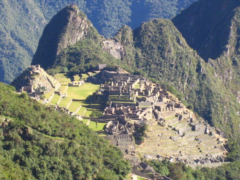 Encontrándose en Machu Pichu