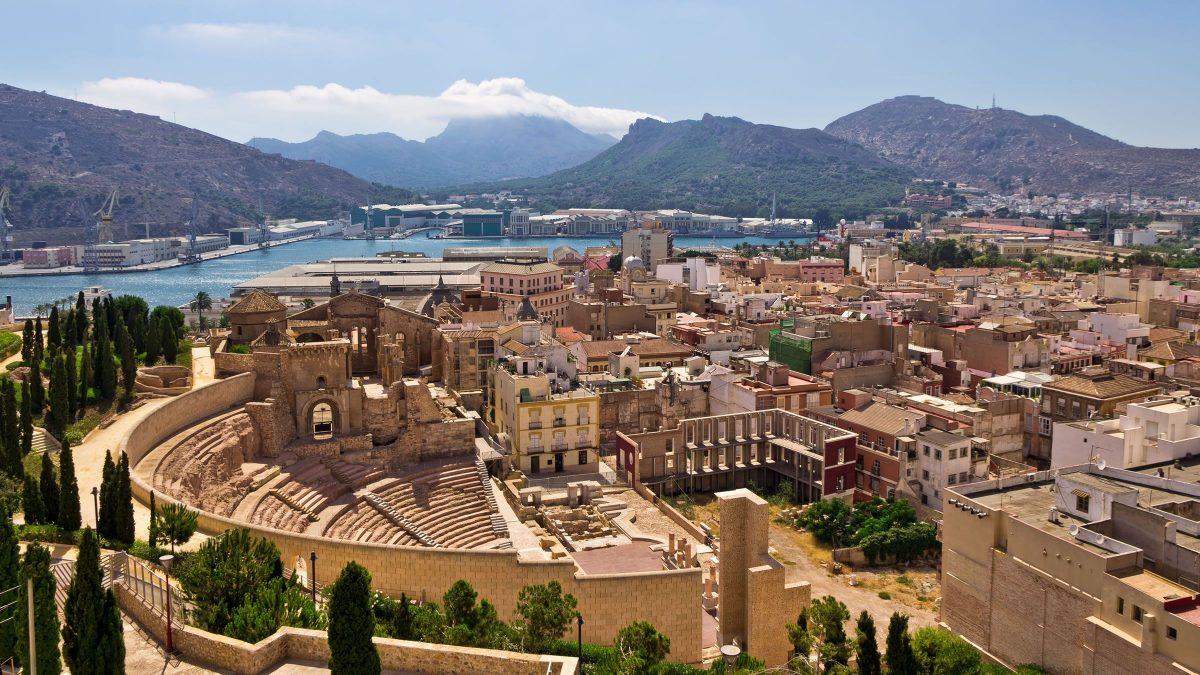 Ciudad de Cartagena en la Región de Murcia