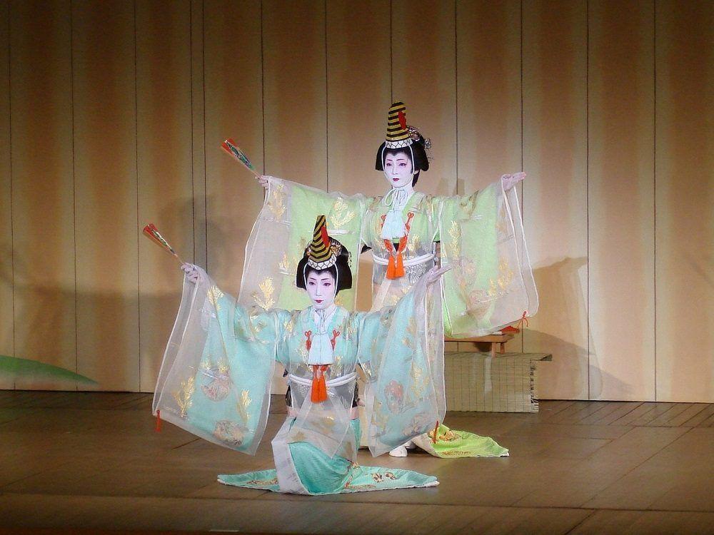 Actuación de maikos y geishas