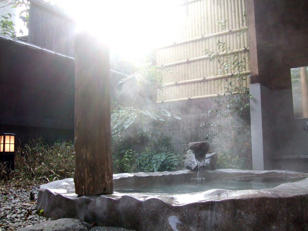 Baño de aguas termales