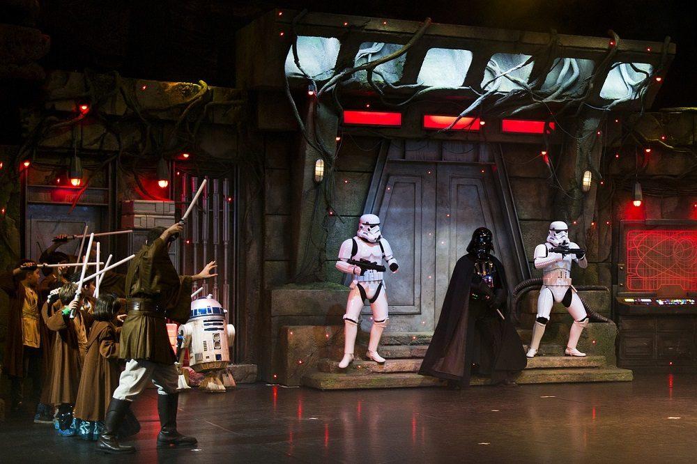 espectáculo de Star Wars en Disneyland París