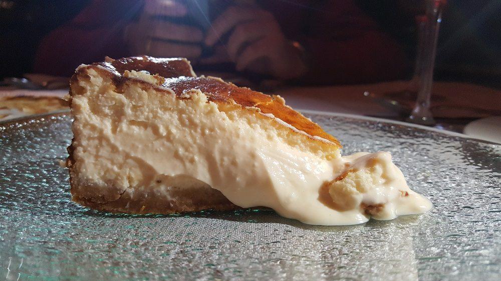Tarta de queso del restaurante Carbón Negro