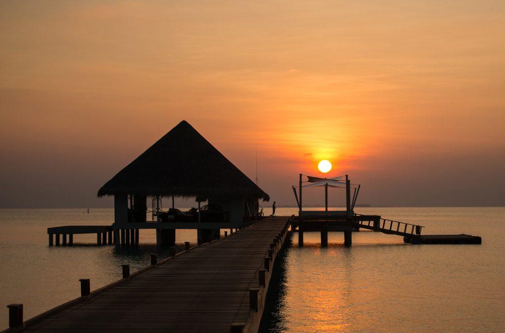 Atardecer en Las Maldivas