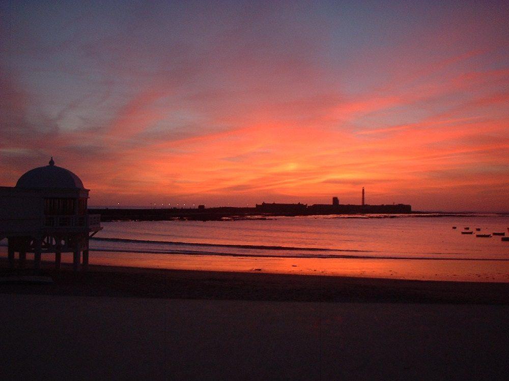 atardecer La Caleta Cádiz