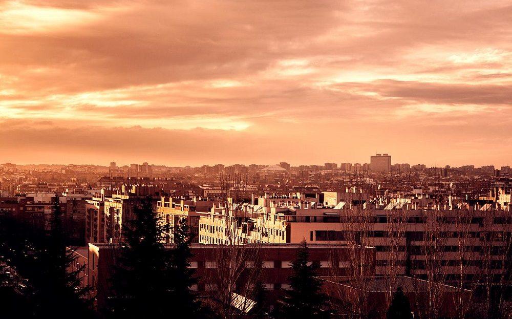 atardecer Parque de Tierno Galván Madrid