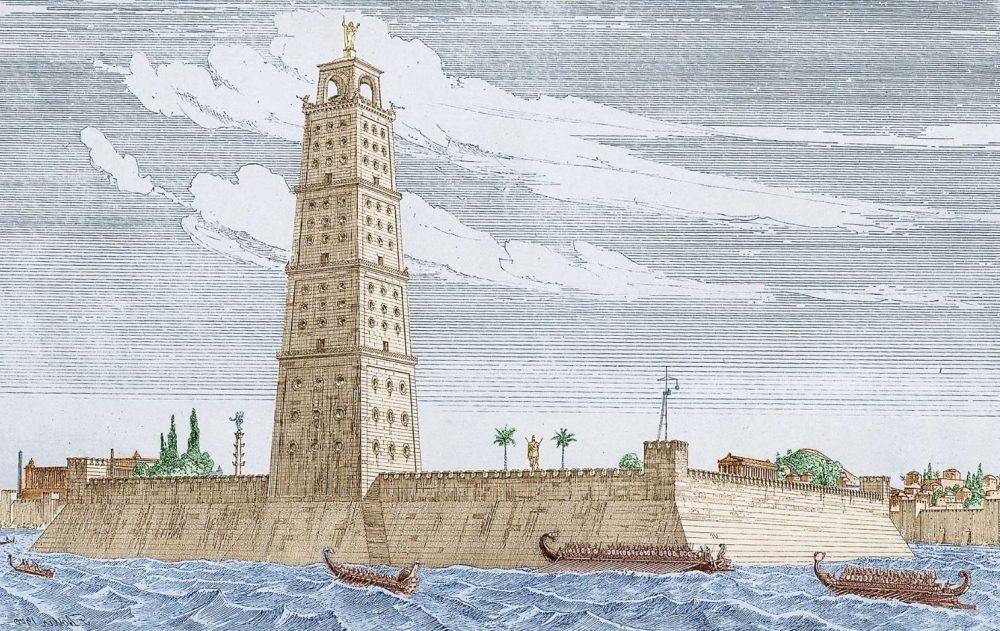 El faro de Alejandría es el más famoso conjuntos Patrimonio de la Humanidad que están en peligro o desaparacido
