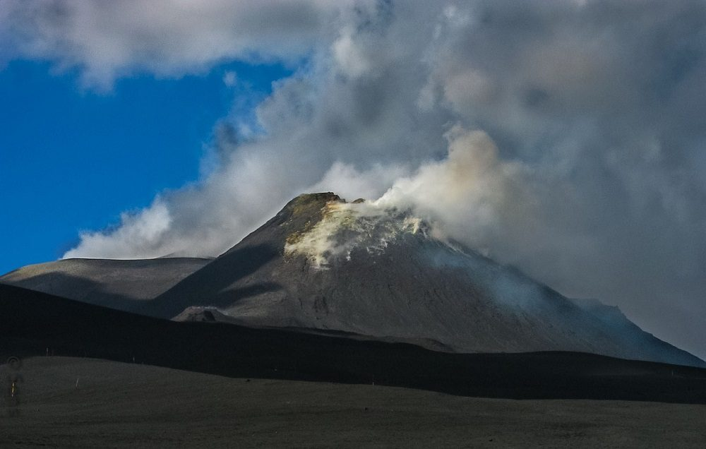 Volcán Etna, en Sicilia, Italia