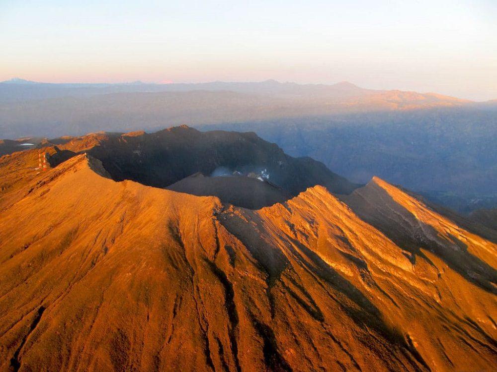 Volcán Galeras, en Colombia