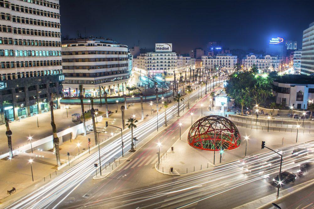El centro urbano de Casablanca