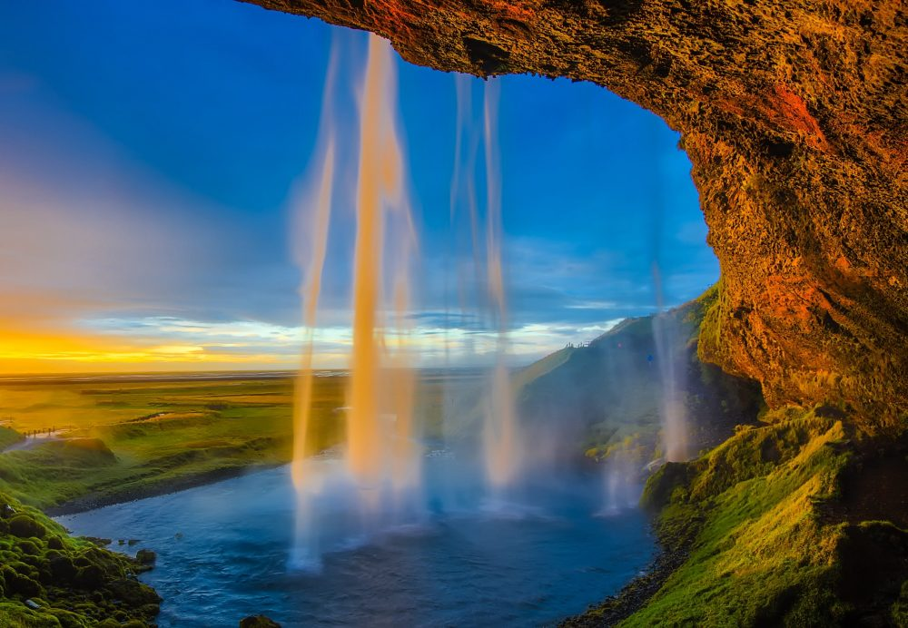 hermosas cascadas en Islandia