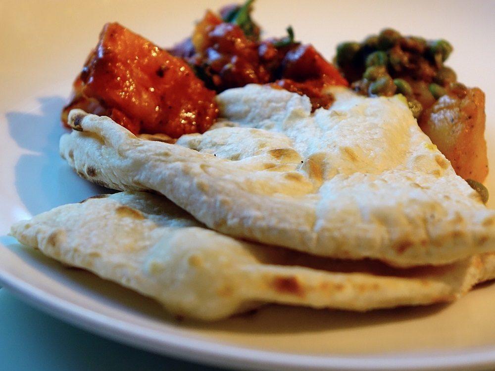 Naan, el pan típico de la gastronomía india