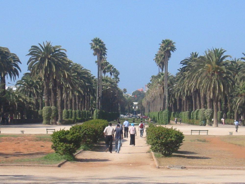Parque de la Liga Árabe en Casablanca