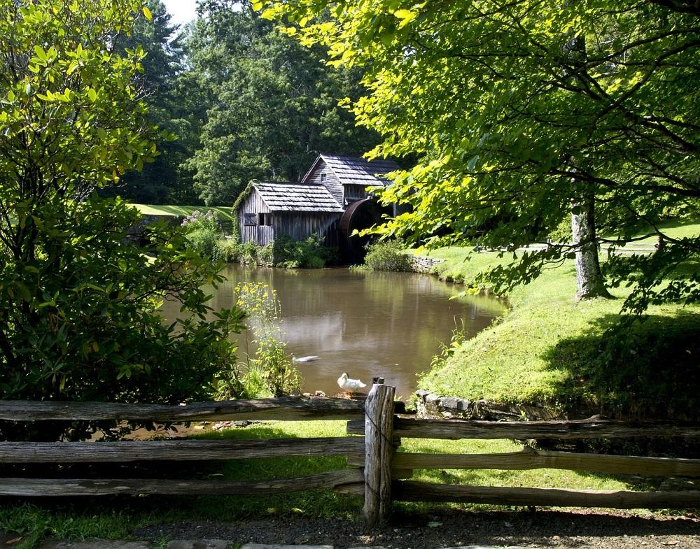 Molino Mabry Mill de la ruta Blue Ridge Parkway