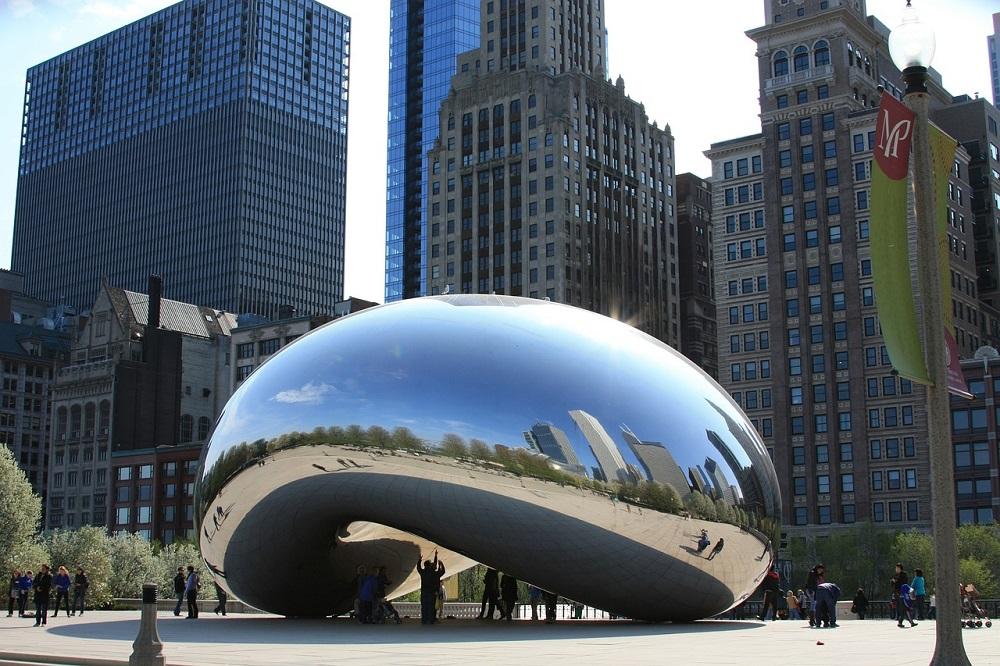 Cloud Gate, conocida como The Bean, en Chicago