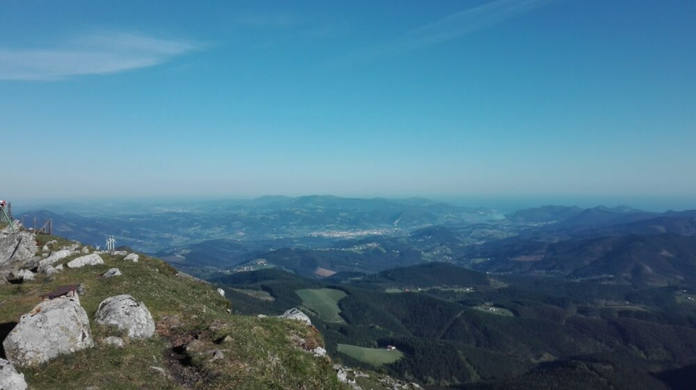 Vistas monte Oiz, una de las rutas más espectaculares de los Montes Vascos
