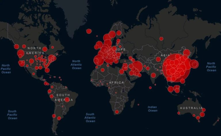 países más afectados por el coronavirus COVID-19